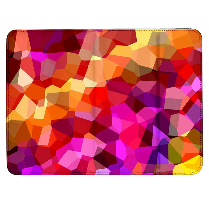 Geometric Fall Pattern Samsung Galaxy Tab 7  P1000 Flip Case