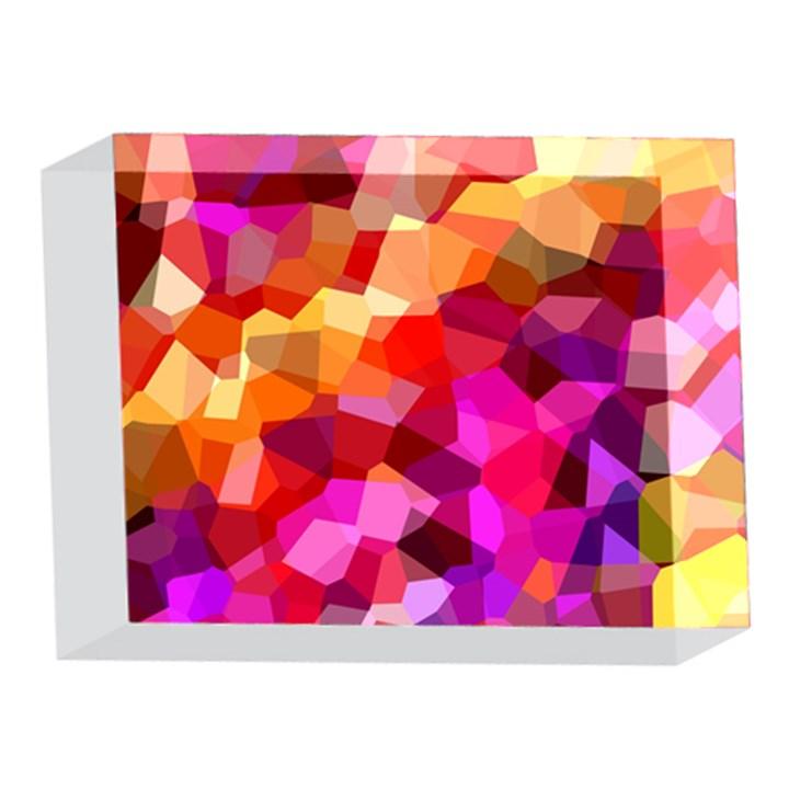 Geometric Fall Pattern 5 x 7  Acrylic Photo Blocks