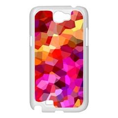Geometric Fall Pattern Samsung Galaxy Note 2 Case (White)
