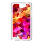 Geometric Fall Pattern Samsung Galaxy Note 2 Case (White) Front