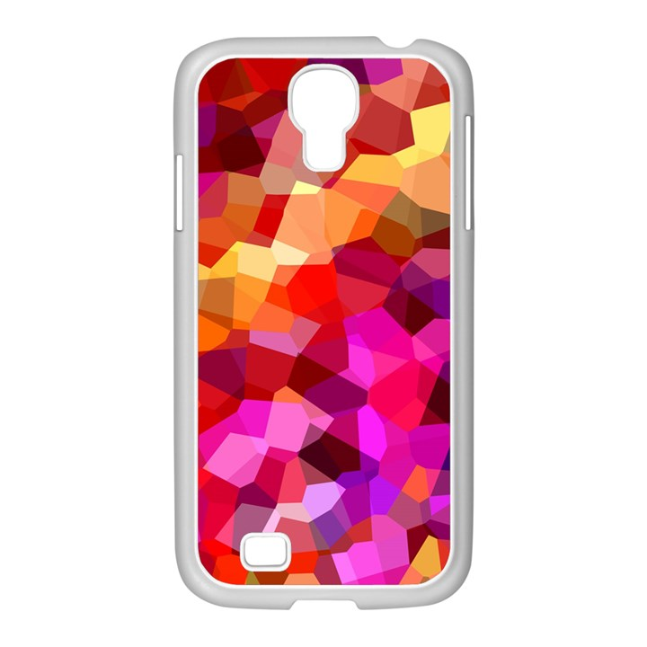 Geometric Fall Pattern Samsung GALAXY S4 I9500/ I9505 Case (White)