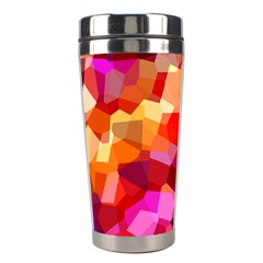 Geometric Fall Pattern Stainless Steel Travel Tumblers