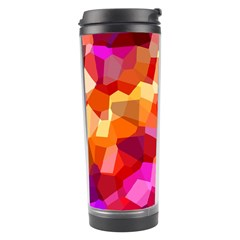 Geometric Fall Pattern Travel Tumbler