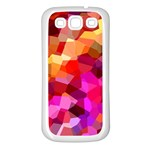 Geometric Fall Pattern Samsung Galaxy S3 Back Case (White) Front