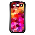 Geometric Fall Pattern Samsung Galaxy S3 Back Case (Black) Front