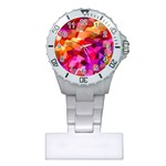 Geometric Fall Pattern Plastic Nurses Watch Front
