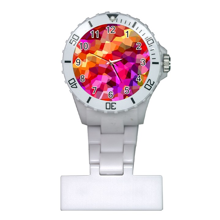 Geometric Fall Pattern Plastic Nurses Watch