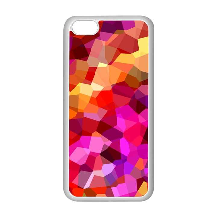 Geometric Fall Pattern Apple iPhone 5C Seamless Case (White)