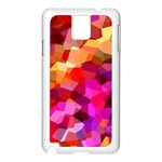 Geometric Fall Pattern Samsung Galaxy Note 3 N9005 Case (White) Front