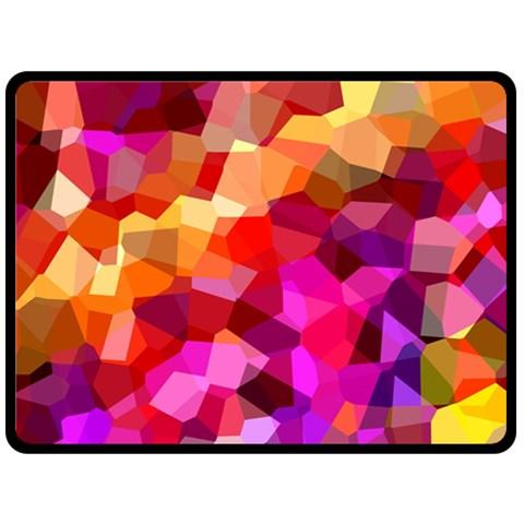 Geometric Fall Pattern Double Sided Fleece Blanket (Large)