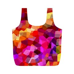 Geometric Fall Pattern Full Print Recycle Bags (M)
