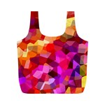 Geometric Fall Pattern Full Print Recycle Bags (M)  Back