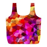 Geometric Fall Pattern Full Print Recycle Bags (L)  Back