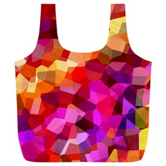 Geometric Fall Pattern Full Print Recycle Bags (l)