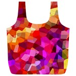 Geometric Fall Pattern Full Print Recycle Bags (L)  Front