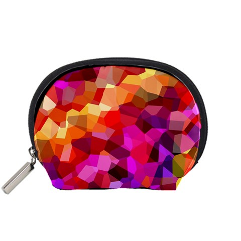 Geometric Fall Pattern Accessory Pouches (Small)