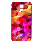 Geometric Fall Pattern Samsung Galaxy S5 Back Case (White) Front