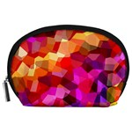 Geometric Fall Pattern Accessory Pouches (Large)  Front