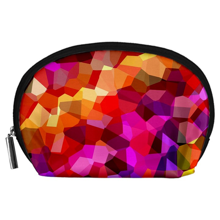 Geometric Fall Pattern Accessory Pouches (Large)