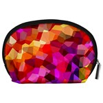 Geometric Fall Pattern Accessory Pouches (Large)  Back