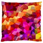 Geometric Fall Pattern Large Flano Cushion Case (One Side) Front