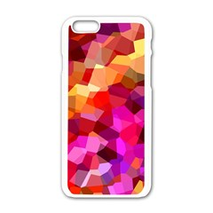 Geometric Fall Pattern Apple Iphone 6/6s White Enamel Case