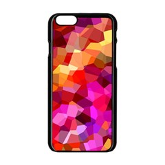 Geometric Fall Pattern Apple Iphone 6/6s Black Enamel Case