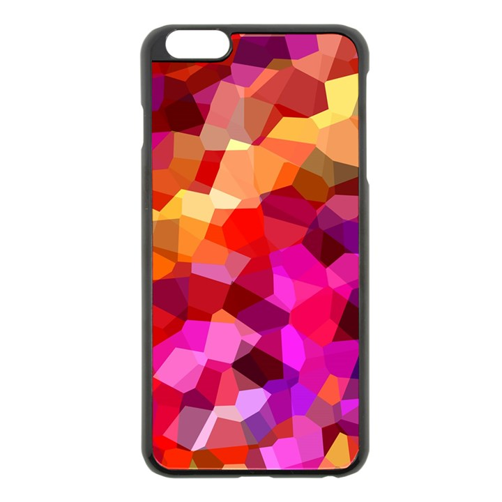 Geometric Fall Pattern Apple iPhone 6 Plus/6S Plus Black Enamel Case