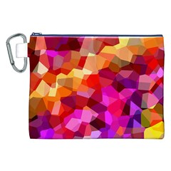 Geometric Fall Pattern Canvas Cosmetic Bag (XXL)