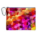 Geometric Fall Pattern Canvas Cosmetic Bag (XXL) Front