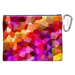 Geometric Fall Pattern Canvas Cosmetic Bag (XXL) Back