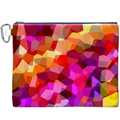 Geometric Fall Pattern Canvas Cosmetic Bag (xxxl)