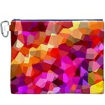 Geometric Fall Pattern Canvas Cosmetic Bag (XXXL) Front