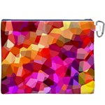 Geometric Fall Pattern Canvas Cosmetic Bag (XXXL) Back