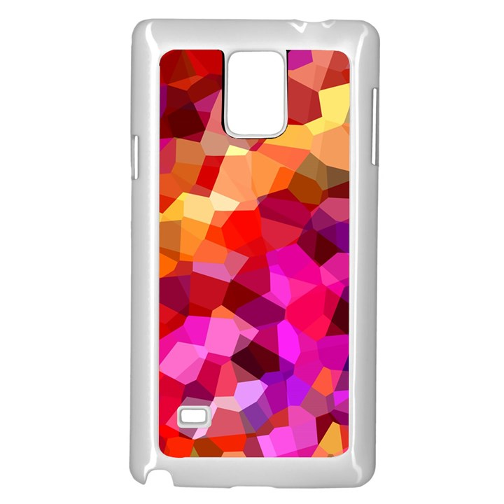 Geometric Fall Pattern Samsung Galaxy Note 4 Case (White)