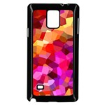 Geometric Fall Pattern Samsung Galaxy Note 4 Case (Black) Front