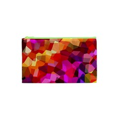 Geometric Fall Pattern Cosmetic Bag (xs)