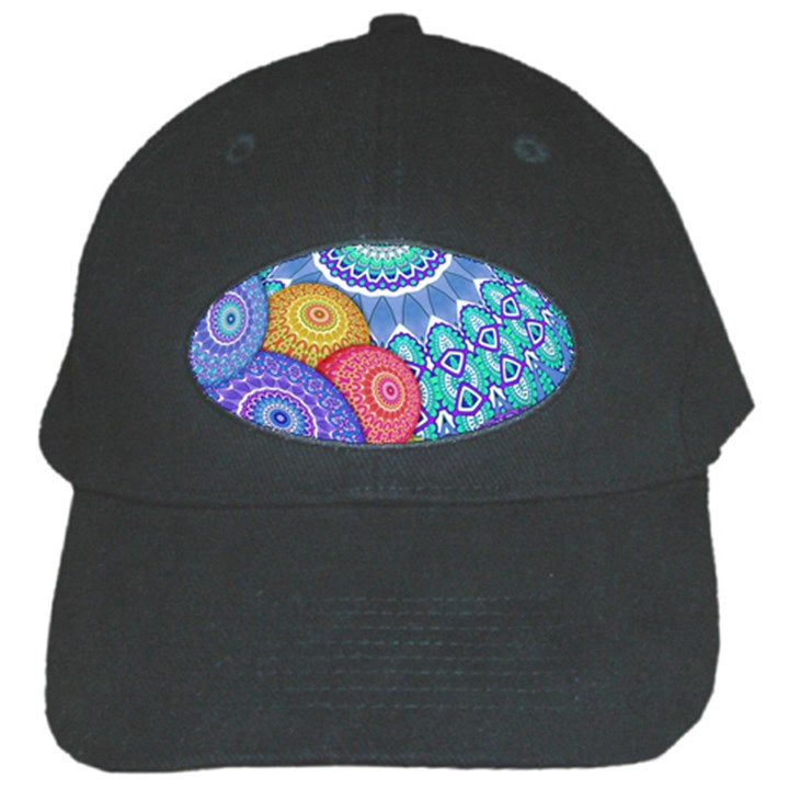 India Ornaments Mandala Balls Multicolored Black Cap