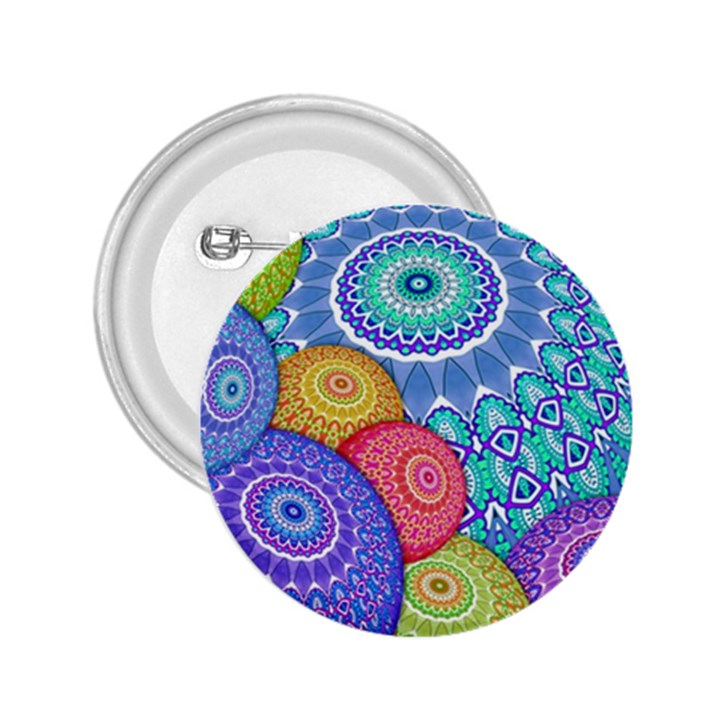 India Ornaments Mandala Balls Multicolored 2.25  Buttons