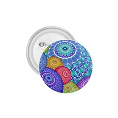 India Ornaments Mandala Balls Multicolored 1.75  Buttons