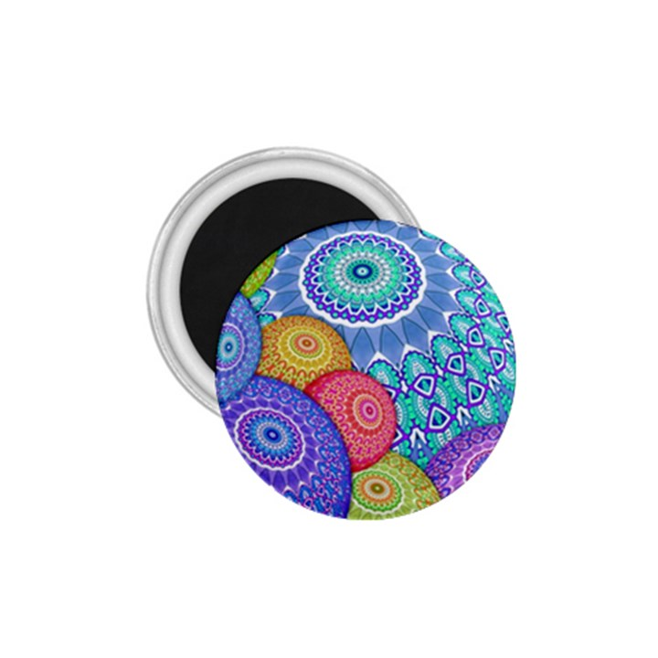 India Ornaments Mandala Balls Multicolored 1.75  Magnets