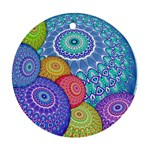 India Ornaments Mandala Balls Multicolored Ornament (Round)  Front