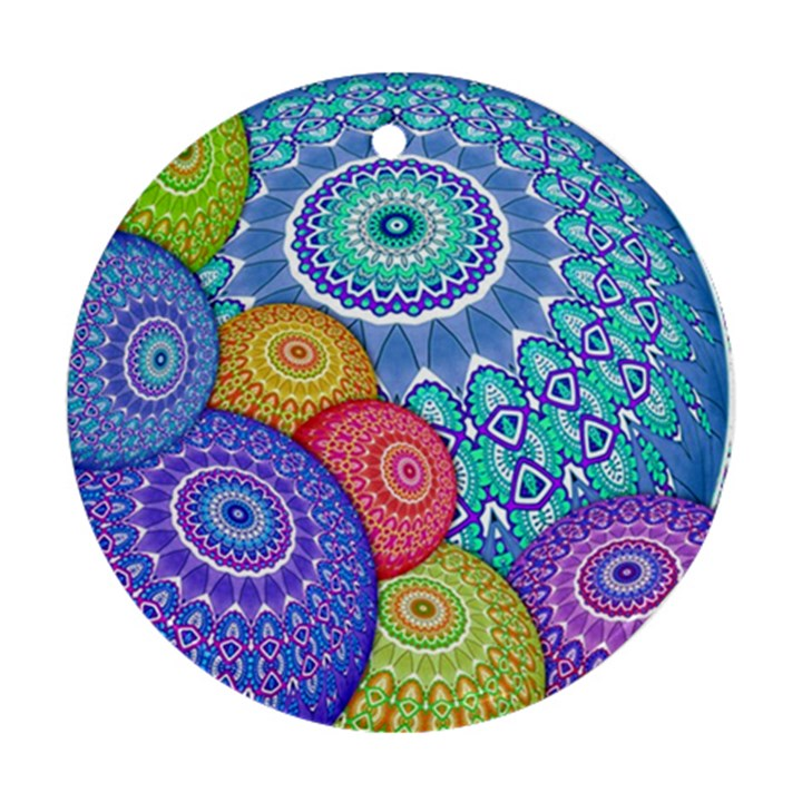 India Ornaments Mandala Balls Multicolored Ornament (Round)