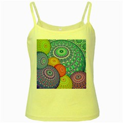 India Ornaments Mandala Balls Multicolored Yellow Spaghetti Tank
