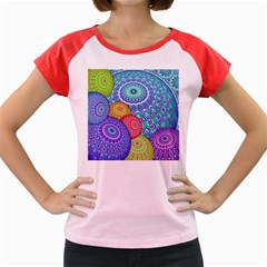 India Ornaments Mandala Balls Multicolored Women s Cap Sleeve T Shirt