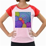 India Ornaments Mandala Balls Multicolored Women s Cap Sleeve T-Shirt Front