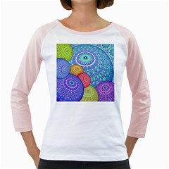 India Ornaments Mandala Balls Multicolored Girly Raglans