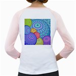 India Ornaments Mandala Balls Multicolored Girly Raglans Back