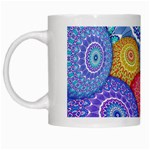 India Ornaments Mandala Balls Multicolored White Mugs Left