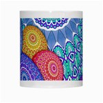 India Ornaments Mandala Balls Multicolored White Mugs Center
